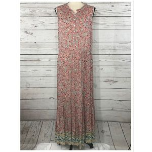 Style & Co Maxi Dress Floral Sleeveless Lined